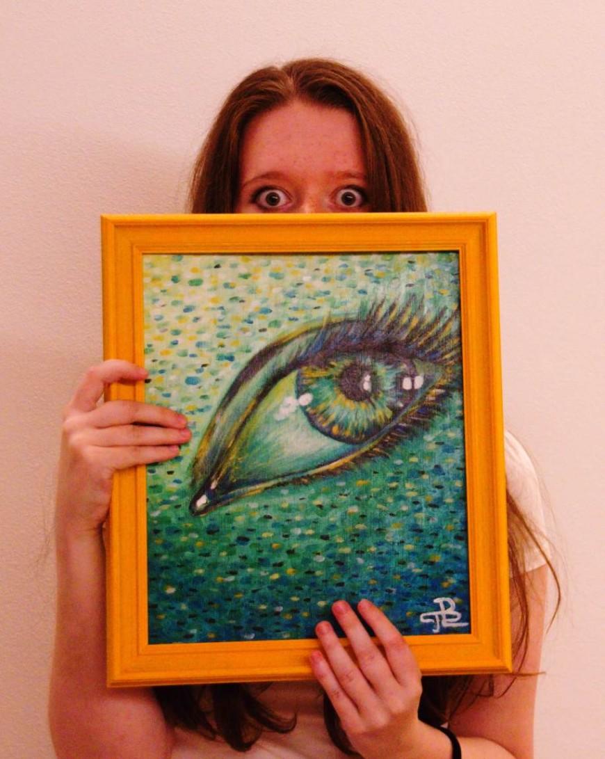 Malba oka i s autorkou, Terezou Preislerovou