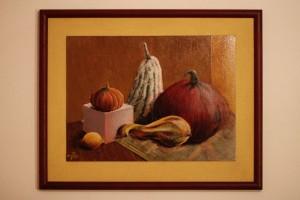 Malba zátiší se zeleninou, Tereza Preislerová, zarámováno