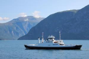 Trajekt na Norském fjordu