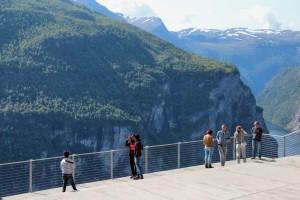 Geiranger - vyhlídka na úžasný fjord, Norsko